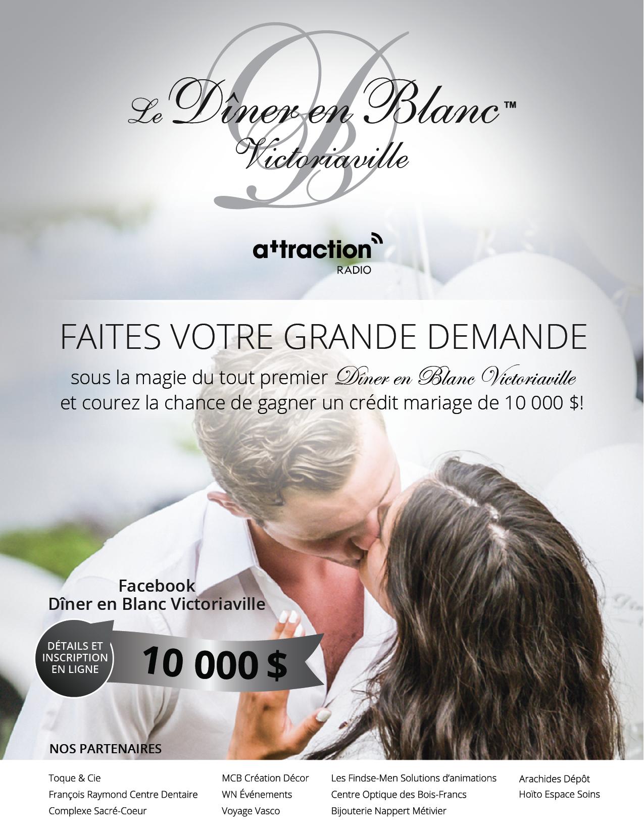 Diner En Blanc Victoriaville Concours Attraction Radio