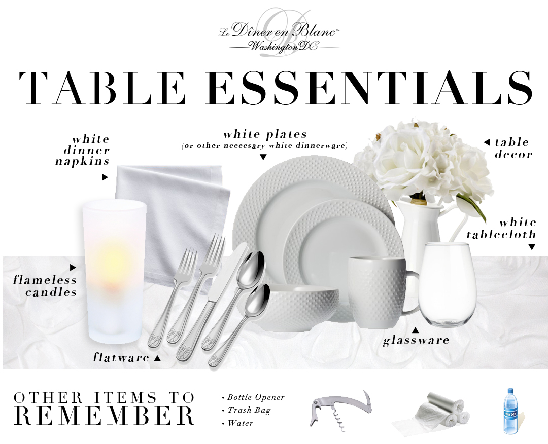 Diner En Blanc Washington D C Preparing For Diner En Blanc Table Essentials